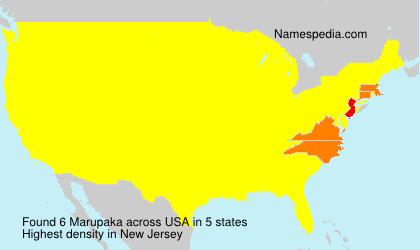 Familiennamen Marupaka - USA