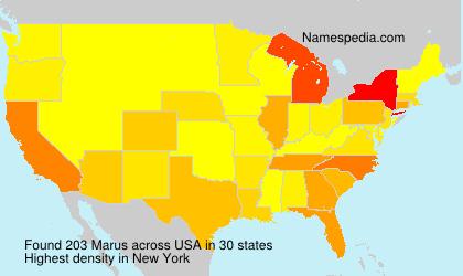 Familiennamen Marus - USA