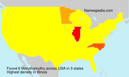 Surname Maruthamuthu in USA