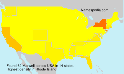 Surname Marwell in USA
