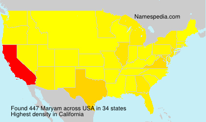 Surname Maryam in USA