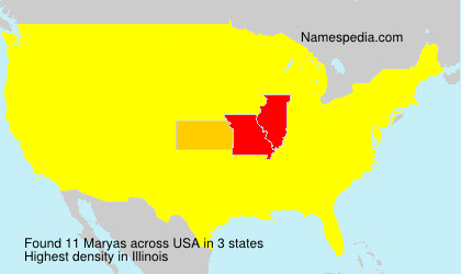 Surname Maryas in USA