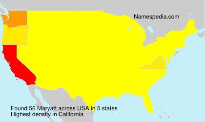 Surname Maryatt in USA