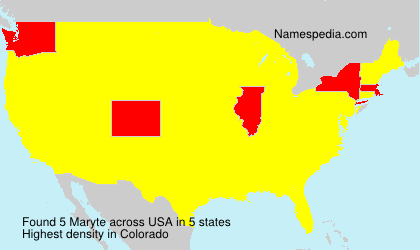 Surname Maryte in USA