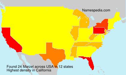 Surname Marzel in USA