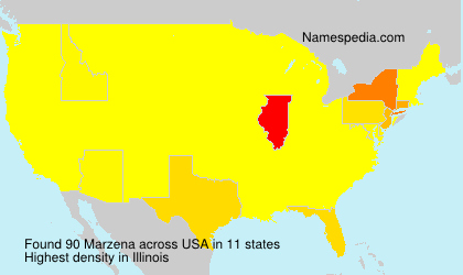 Surname Marzena in USA