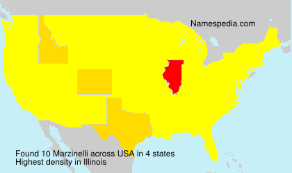 Surname Marzinelli in USA