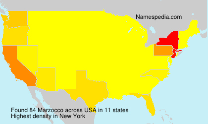Surname Marzocco in USA