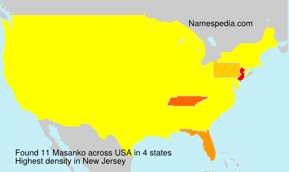 Surname Masanko in USA