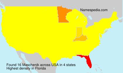 Surname Maschenik in USA