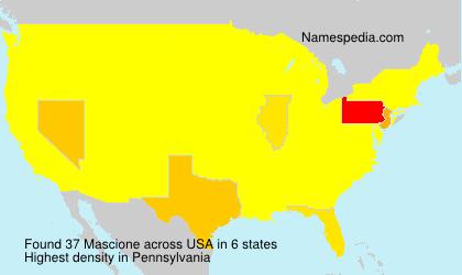 Surname Mascione in USA