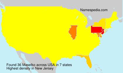 Surname Maselko in USA