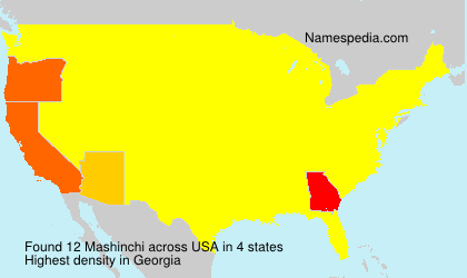 Surname Mashinchi in USA