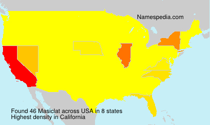 Surname Masiclat in USA