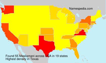 Surname Masilamani in USA
