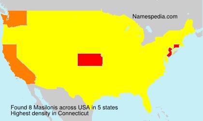 Familiennamen Masilonis - USA