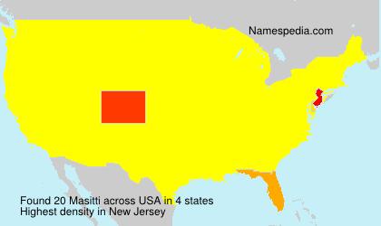 Surname Masitti in USA