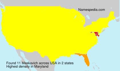 Familiennamen Maskavich - USA