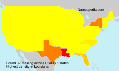 Surname Masling in USA