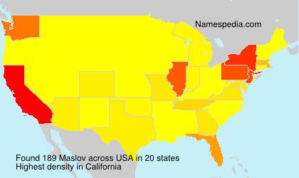 Surname Maslov in USA