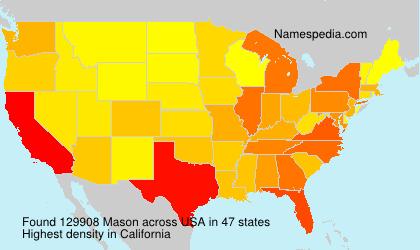 Surname Mason in USA