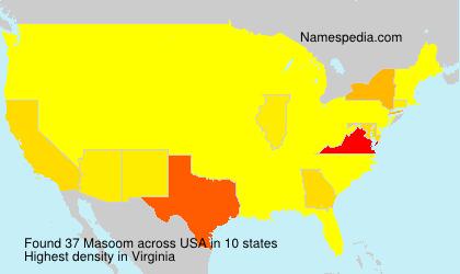 Surname Masoom in USA