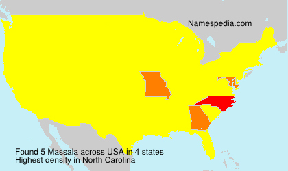 Surname Massala in USA
