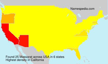 Surname Massarat in USA