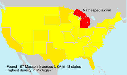 Surname Masselink in USA