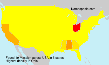 Surname Massien in USA
