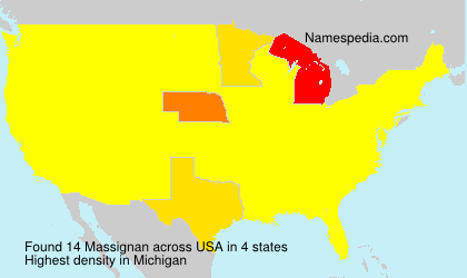 Surname Massignan in USA