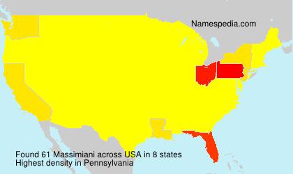 Surname Massimiani in USA