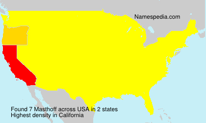 Surname Masthoff in USA