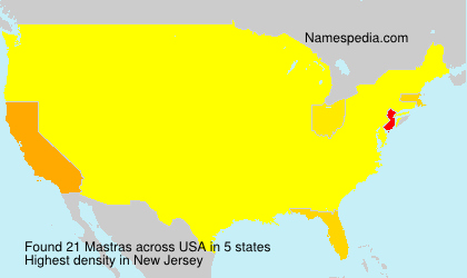 Surname Mastras in USA