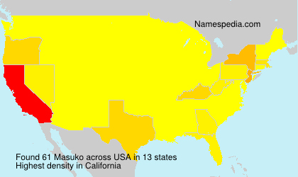 Surname Masuko in USA