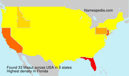 Surname Masut in USA