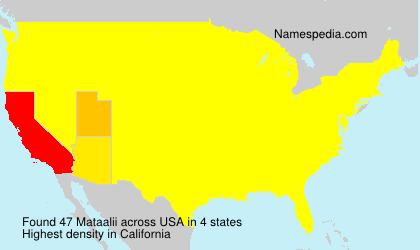 Surname Mataalii in USA