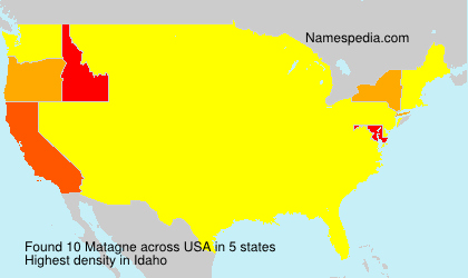 Surname Matagne in USA