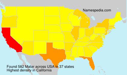Surname Matar in USA