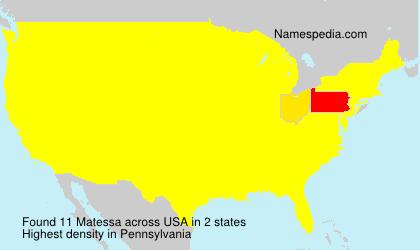 Surname Matessa in USA