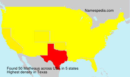 Surname Matheaus in USA