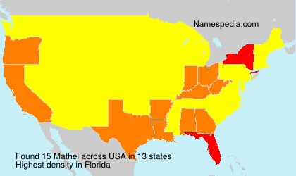 Surname Mathel in USA