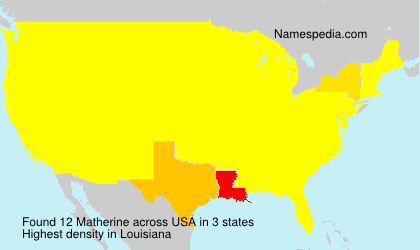 Familiennamen Matherine - USA