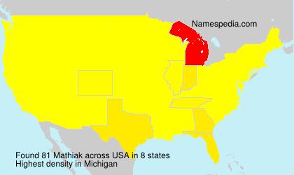 Surname Mathiak in USA