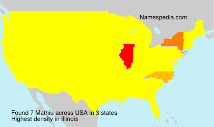 Surname Mathiu in USA