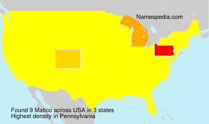 Surname Matico in USA