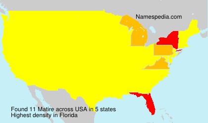 Surname Matire in USA