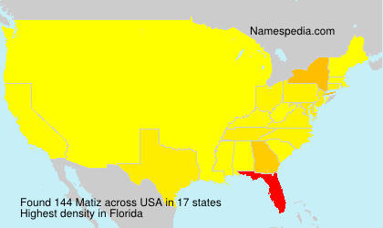 Surname Matiz in USA