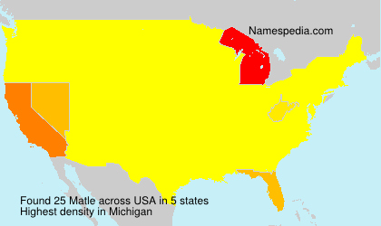 Surname Matle in USA