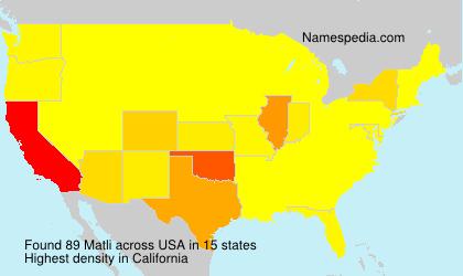 Surname Matli in USA